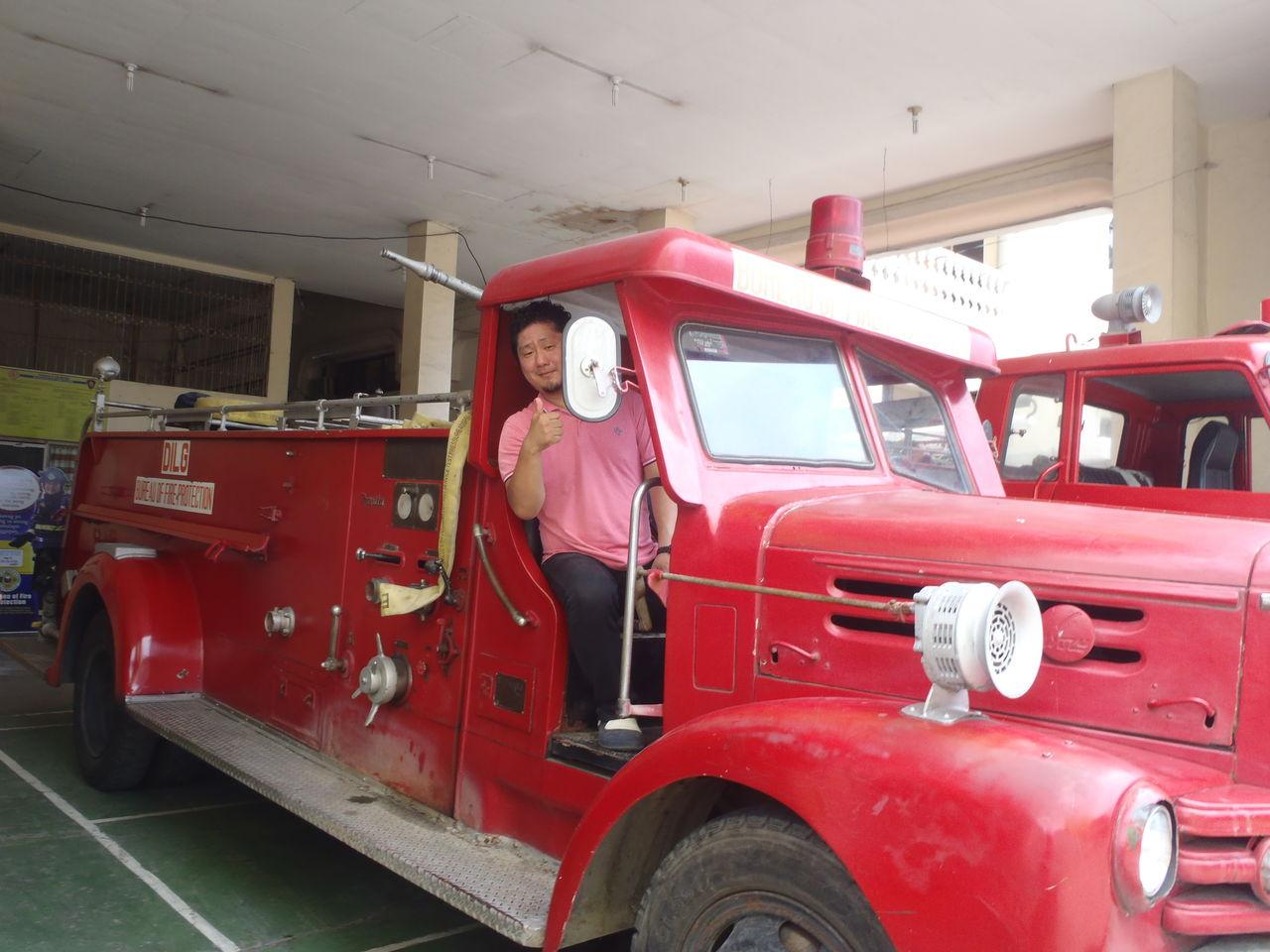 1957年生産いすゞの消防車がドゥマゲッティーで未だに活躍中!!