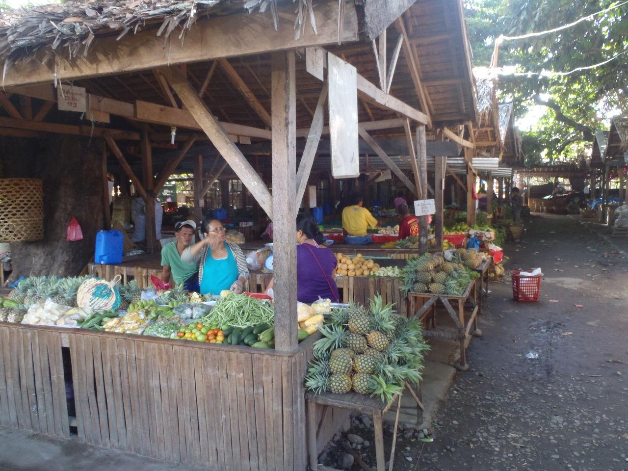 ドゥマゲティで安全で美味しい野菜が買える市場