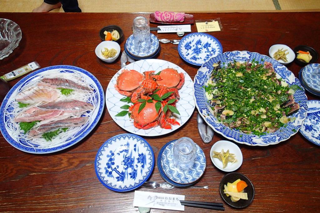 高知漁師宿の夕食