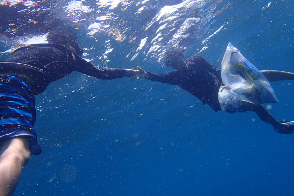 ドゥマゲッティの海底クリーニングプロジェクト