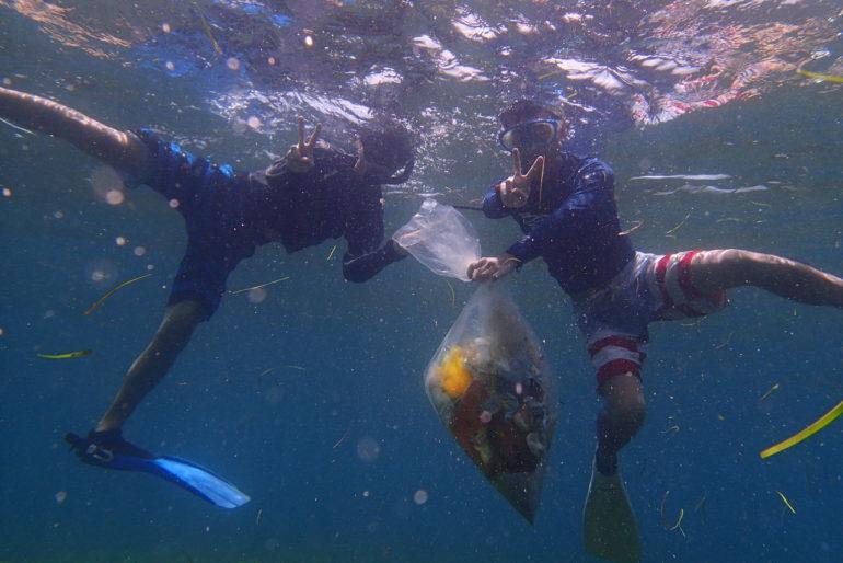 日本の高校生ドゥマゲッティで海のゴミ問題に向き合う